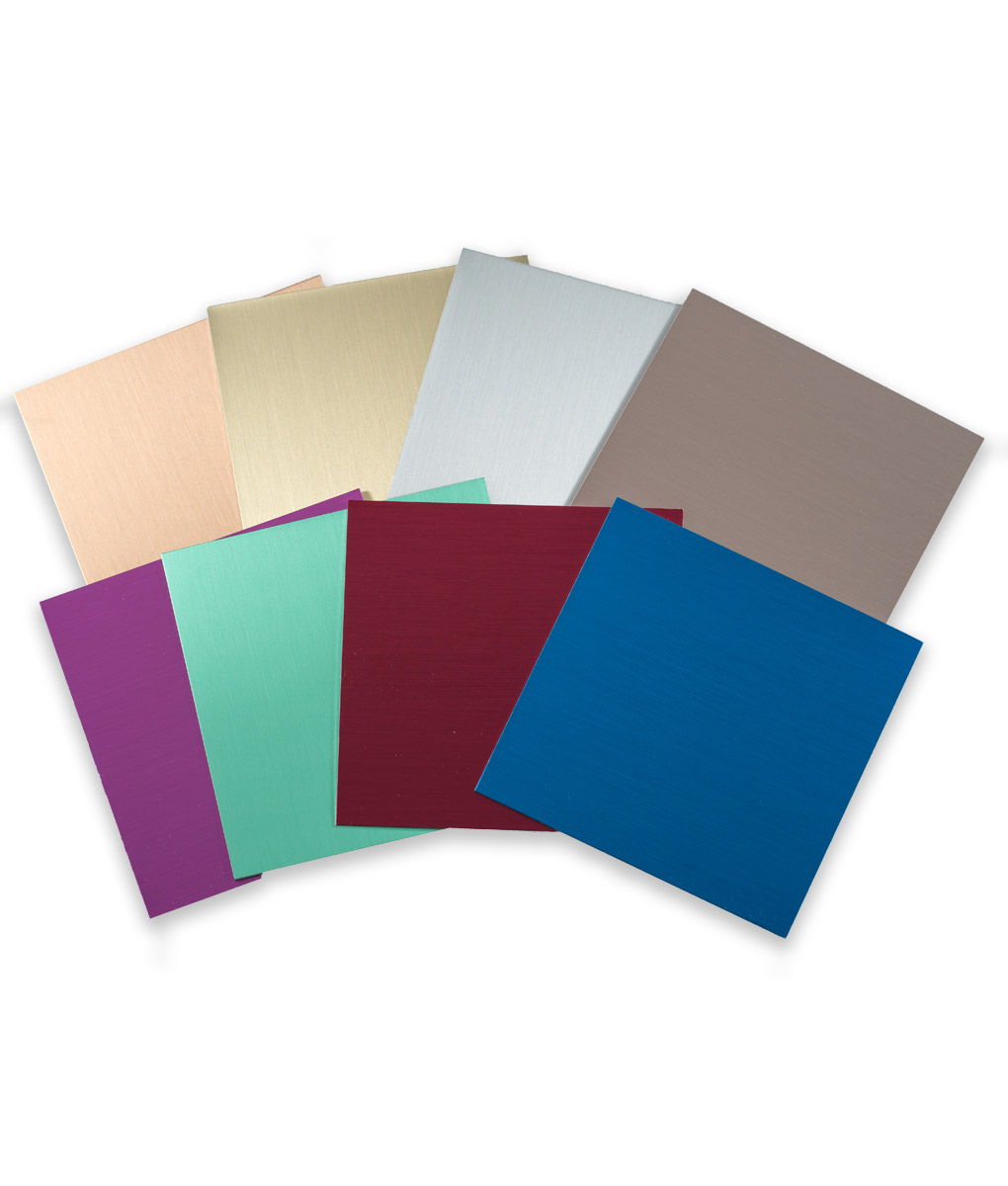 Aluminum Satin Engraving Material all color samples shown