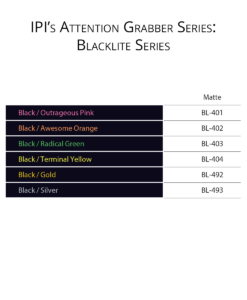 PI Attention Grabber Series - Blacklite Engravable material color options from Main Trophy Supply