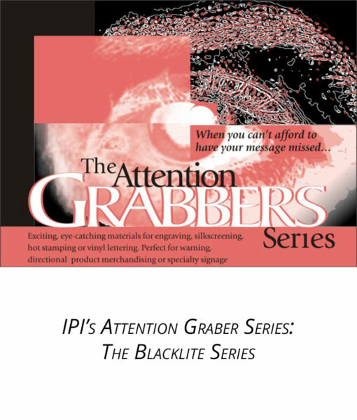IPI Attention Grabber Series - Blacklite Engravable material from Main Trophy Supply
