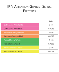 IPI Attention Grabber Series - Electrics material color options from Main Trophy Supply