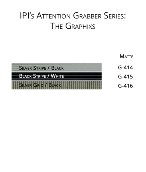 IPI Attention Grabber Series - Graphixs Engravable material color options from Main Trophy Supply