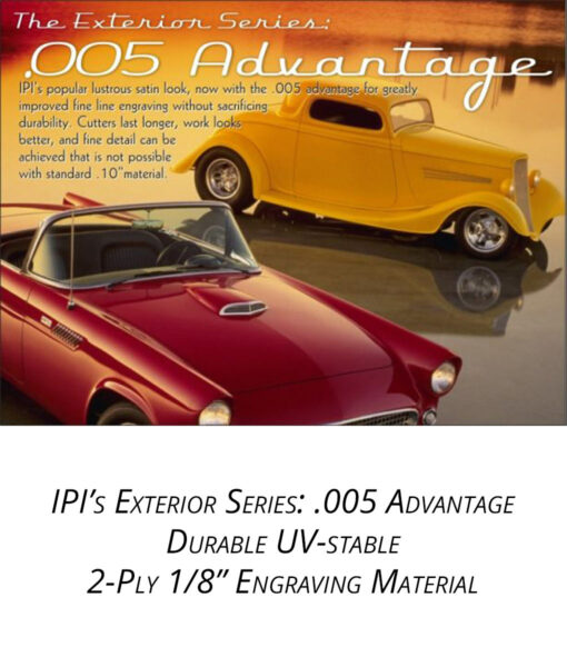 "IPI Exterior Series - .005 Advantage 1/8"" engraving material from Main Trophy Supply"