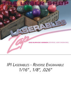 IPI Laserables - Reverse Engravable material from Main Trophy Supply