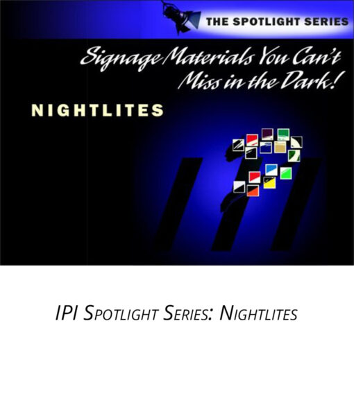 IPI Spotlight Series - Nightlites - engraving material from Main Trophy Supply