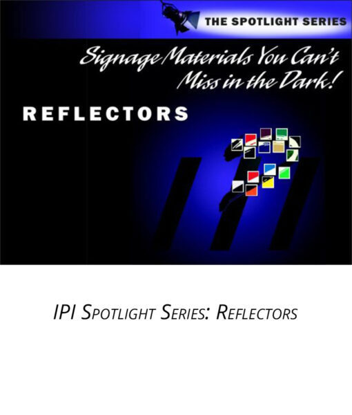 IPI Spotlight Series - Reflectors - engraving material from Main Trophy Supply