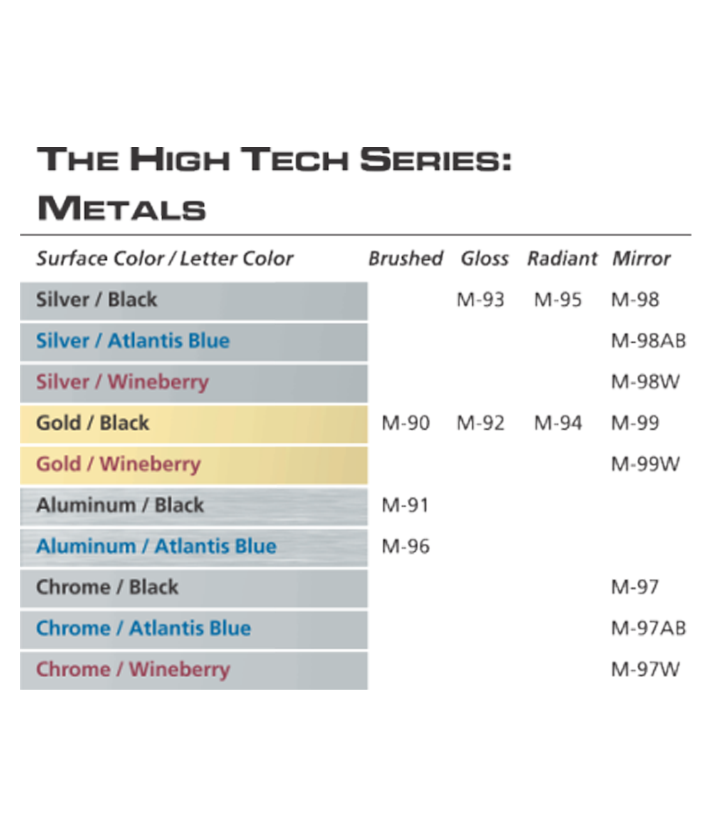IPI High Tech Series color options from Main Trophy Supply