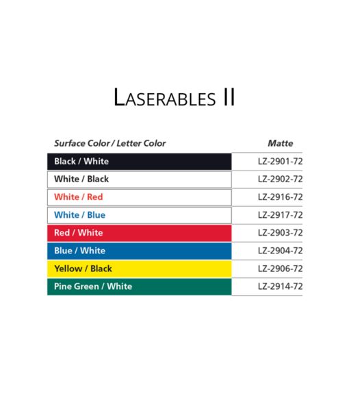IPI Laserables II color options from Main Trophy Supply