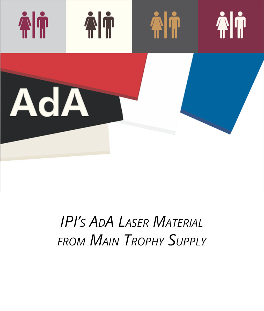 "Ipi Quote Ipi Laser Ada Matte Finish 116 & 132"" Thickness  Main Trophy Supply"