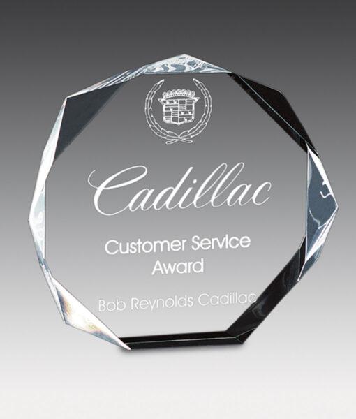 Octagon bevel acrylic award