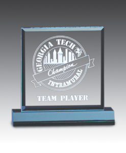 Straight bevel acrylic award