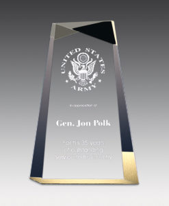 Wedge facet acrylic award