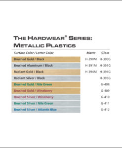 IPI Hardwear Metallic Series-color samples - from Main Trophy Supply